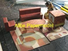 Online Shop [Alice papermodel]Furniture and Appliances architecture diorama Sandbox house structure building models|Aliexpress Mobile