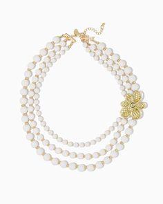 charming charlie   Adeline Flower Necklace   UPC: 400000144115 #charmingcharlie