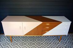 SOLD Vintage Schreiber sideboard mid-century modern made