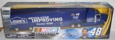 Jimmie Johnson #48 2012 Edition With 5 Five Time Champion Championship Logo On Lowes Never Stop Improving Kobalt Hendrick Motorsports Team Racing Hauler Transporter Semi Tractor Trailer Rig Truck 1/64 Scale NASCAR Authentics Edition Metal Cab Plastic Trailer by NASCAR Authentics. $40.38. Jimmie Johnson #48 2012 Edition With 5 Five Time Champion Championship Logo On Lowes Never Stop Improving Kobalt Hendrick Motorsports Team Racing Hauler Transporter Semi Tractor...