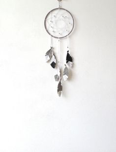 Grey Dream Catcher dream catcher wall hanging Gender by LilyRazz - Want a 20% DISCOUNT today? Paste into your browser: http://eepurl.com/bYlj5n