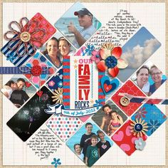 Our family scrapbook page | http://awesome-scrapbook-photos.blogspot.com