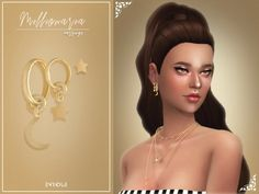 The Sims 4 Millionaria Earrings Sims 4 Cc Packs, Sims 4 Mm Cc, Sims 4 Mods Clothes, Sims 4 Clothing, Sims 4 Piercings, Sims 4 Cas Mods, Sims 4 Cc Makeup, Sims4 Clothes, Sims 4 Characters