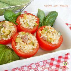 Pomodori ripieni con risotto