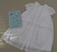 White Sweet and Simple Daygown pattern from OFB sewn and embroidered by Ms. Dot.