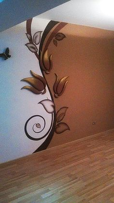 Ideas For Wall Bedroom Stickers Interior Design Bedroom Stickers, Wall Decor Stickers, Wallpaper Stickers, 3d Wallpaper, Cheap Home Decor, Diy Home Decor, Plaster Art, Cool Walls, Paint Designs