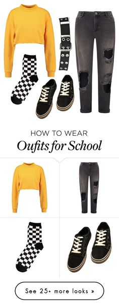 """Everyday school wear"" by llux-llove on Polyvore featuring Miss Selfridge, Relic and Vans"