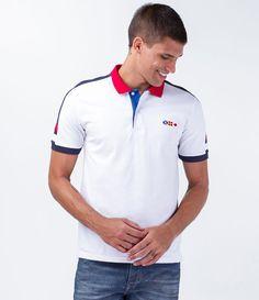 Polo masculina Manga curta Com recortes no ombro Com bordado Marca   Marfinno Tecido   algodão 9a402b3a0e741