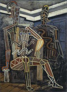 "Giorgio de Chirico - Volos 1888 - Roma 1978 - Manichini guerrieri (Due archeologi),[...], mis en vente lors de la vente ""Art Moderne"" à Farsettiarte | Auction.fr"