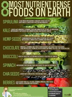 8 Most Nutrient Dense Foods on Earth ♥