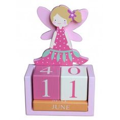 Gisela Graham Fairy Wooden Perpetual Calendar
