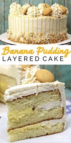 True lovers of both cake and banana pudding will flip for Banana Pudding Layered. - True lovers of both cake and banana pudding will flip for Banana Pudding Layered Cake. It calls for - Dessert Cake Recipes, Delicious Cake Recipes, Cupcake Recipes, Yummy Cakes, Just Desserts, Sweet Recipes, Cupcake Cakes, Yummy Food, Birthday Cake Recipes
