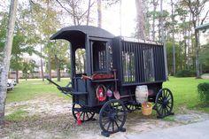 Texas Paddy Wagon Horse drawn. Hugh Shelton Gonzales, TX  Jail jailhouse wagon.