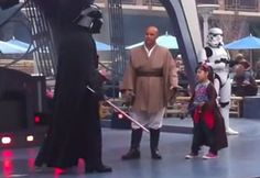 Little Girl Chooses The Dark Side: She knows the power of the Dark Side