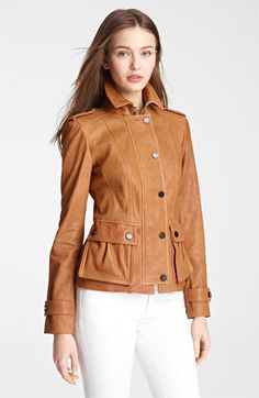 Burberry London Leather Jacket available at #Nordstrom