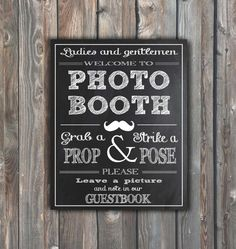 Wedding Photo Booth Sign–Guestbook Sign – Printable Photo Booth-Guestbook Sign–Chalkboard Sign-8x10 Photo Booth Sign–Instant Download