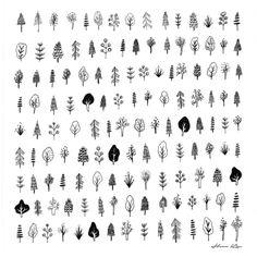 tiny trees Art Print More