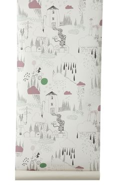 Product Code: Ferm Living Wallpaper  In The Rain 517 Roll size: 10.5m x 53cm Pattern repeat: 53cm Please allow 14-21 business days for delivery Important: Check all products for shading and other possible faults before cutting. We cannot accept responsibility for merchandise after it has been hung or cut. Whilst every effort is made to achieve perfect colour matching between wallpapers and panels, because of different inks and printing processes, exact matching is not possible. Order wal…