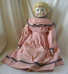 Large German ABG Highland Mary Glazed Porcelain (China) Head Doll from joan-lynetteantiquedolls on Ruby Lane...    Such a sweet baby doll!