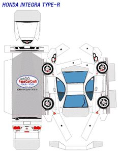 paper car craft   SP. Papel Modelismo: PaperCraft - Honda Integra TYPE-R