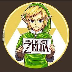 """""""Dude! I'm not Zelda!"""" for those of us who can relate... #Tshirt"""