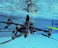 It's now possible to monitor the spread of oil spills and perform search-and-rescue missions unmanned with just one device. The flying and swimming drone is equipped with four versatile propellers that allow it to transition from air into water seamlessly.