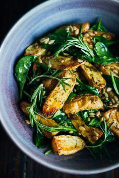 Healthy Vegan Potato Salad | Well and Full | #vegan #salad