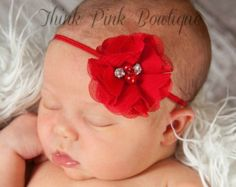 CHOOSE COLOR Baby HeadbandsBaby girl by ThinkPinkBows on Etsy