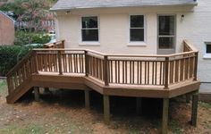 Inexpensive Railing Ideas | ... Railing Ideas? Try Wooden One : Wooden Deck Railing Design Ideas For