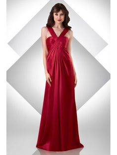 Sheath / Column Straps Sleeveless Floor Length / Long Red Bridesmaid / Wedding Guest Dresses 501066