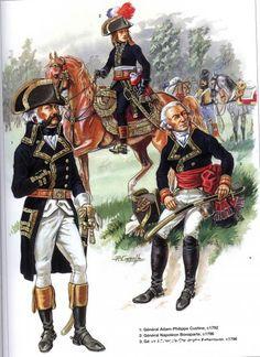 Napoleon Généraux 1792-1809 1-Général Adam-Philippe Custine 1792 2-Général Napoléon Bonaparte 1796 3-Général Francois-Christophe Kellermann 1796