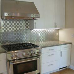 Backsplash Ideas for White Cabinets | ... Backsplash Design Glass Tile White Cabinets Arts Modern Ideas Image