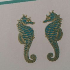 Seahorses engraved by Grosvenor Stationery Company
