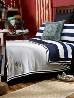 "Ralph Lauren Home. Have loved this style for decades, always a classic! Frm bd: ""Chambre y Coucher"" Designer Ralph Lauren, Interior, Home, Modern Patio Furniture, Bed Blanket, Bed, Bedroom Styles, Bed Throws, Ralph Lauren Home"