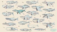 Flotsam whale concepts, Juda-Ben Gordier on ArtStation at https://www.artstation.com/artwork/flotsam-whale-concepts