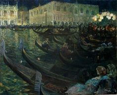Louis Abel-Truchet (1857-1918) - La Festa Del Redentore, Venice