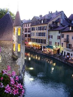 Annecy France <3 such a pretty town! Ate at a restaurant next to this building which use to be a jail