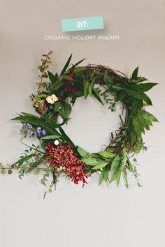 DIY Holiday Wreath: http://www.stylemepretty.com/living/2014/11/21/diy-organic-holiday-wreath/   Photography: Talk Studios - http://www.talkstudiosphotography.com/