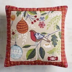 Showcase classic Scandinavian design this Christmas with our ornamental pillow. Traditional embroidery celebrates the simple beauty of the season.