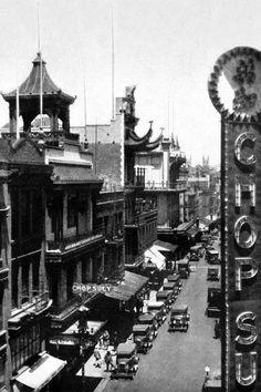 Vintage San Francisco - Chinatown, San Francisco, CA - art prints and posters