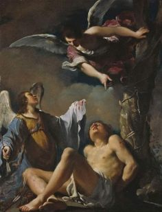 Guercino's St. Sebastian Succoured by Two Angels (1617)