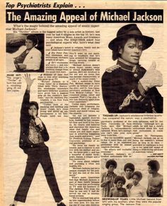 "An article about the ""The Amazing Appeal of Michael Jackson."