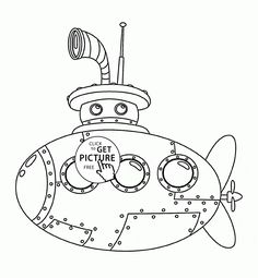 cute submarine coloring page for kids transportation coloring pages printables free wuppsycom - Submarine Coloring Pages Print
