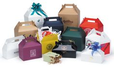 9x6x6 white gloss gable boxes, 50 for $29  {for boxed lunches/favors at parties}