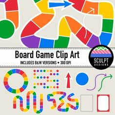 With this colorful clip art set it's easy for you to make your board games for use in your classroom or inclusion in your TpT products.