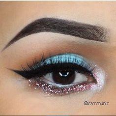 Beautiful look by @cammuniz ✨Brows: @anastasiabeverlyhills Dipbrow 'Ebony' ✨Eyes: @makeupforeverofficial 'D-206'. @occmakeup Glitter in 'Pink'. #anastasiabeverlyhills Fresh & Orange Soda. #nyxcosmetics Milk eyeshadow pencil in waterline. Shimmer powder in 'Polar Bear' & 'Lash Luxe' mascara from @paintedearthskincare . (INNER CORNER) @motivescosmetics LBD liner ✨Lashes: @sweetheartlashes 'Vixen' | Rima | NYX US