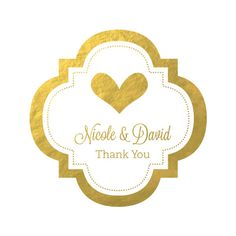 Create beautiful DIY wedding favors by attaching our Personalized Metallic Foil Mini Favor Labels to mason jars, favor boxes, Wedding Favor Labels, Diy Wedding Favors, Wedding Ideas, Wedding Reception, Wedding Gifts, Personalized Stickers, Personalized Favors, Favour Jars, Favor Boxes