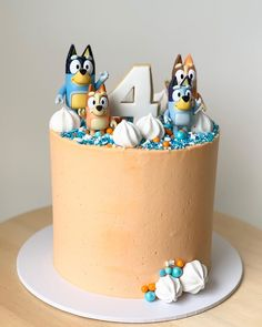 Baby Birthday Themes, 4th Birthday Cakes, Birthday Fun, Baby Boy Birthday, Birthday Ideas, Diy Cake, Girl Cakes, Fruit Party, Puppy Party