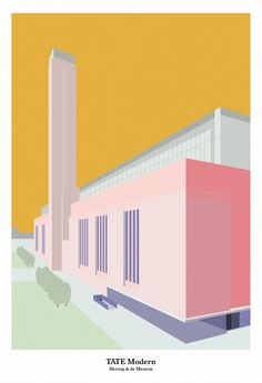 Tate Modern, Herzog & de Meuron  Giclee print on Decor Smooth Art 210gsm.  43cm x 63cm