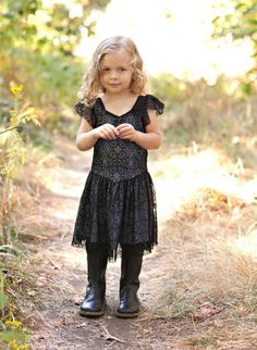 Girl And A Mouse Black Dancer Dress